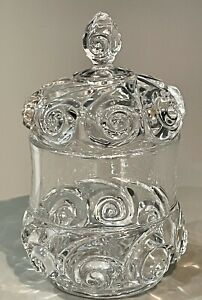 """* Rare 1800's DUNCAN & MILLER SNAIL """"AKA"""" COMET Glass Candy Biscuit Cookie"""