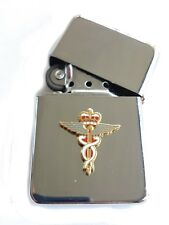 RAF Medical Royal Air Force Chrome Plated Windproof Petrol Lighter in Gift Box