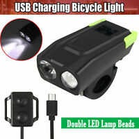 USB Rechargeable LED Bike Headlight Bicycle Front Light With Horn 800 Lumen