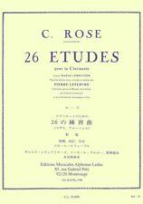 ROSE - 26 Etudes pour la Clarinette d'après Mazas et Kreutzer