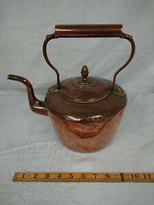 Large Vintage Copper Kettle Soutterware Size 6 - Offers