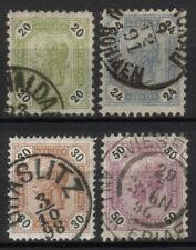 Österreich Nr. 63-66 gestempelt Kaiser Franz Joseph Freimarken 1891