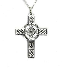 Celtic Cross Silver Necklace Pendant Nordic Warrior Irish Sheamus Alternative