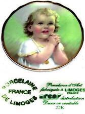 Plate Collector Porcelaine 22K Gold France De Limoges