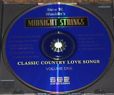 Classic Country Love Songs, Vol. 1 by Steve W. Mauldin's Midnight Strings CD