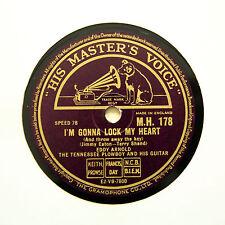 """EDDY ARNOLD """"I'm Gonna Lock My Heart"""" (N-) HMV MH-178 [78 RPM]"""