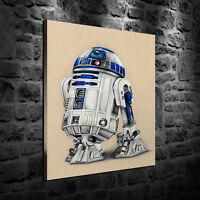 HD Print Oil Painting Decor Art On Canvas Star Wars R2-D2 12x16inch Unframed
