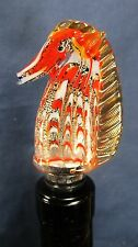 """Wine Bottle Stopper """"Seahorse"""" hand made glass bar accessory"""
