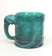 Imperial Glass Jade Green Slag Elephant Storybook Mug