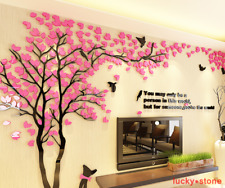 Happy Tree Mural 3D DIY TV Sofa Living Room Bedroom Background Wall Stickers