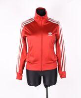 Adidas Donna Maglione Tuta Giacca Rosso Grande Logo Sul Retro Taglia 36