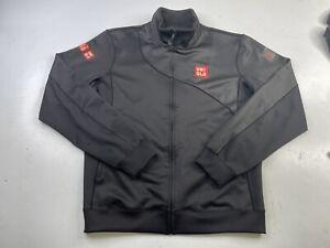 Uniqlo Novak Djokovic Mens Medium Track Jacket Black Full Zip Tennis