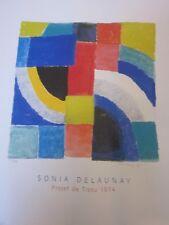 SONIA DELAUNAY ..AFFICHE PROJET DE TISSU 1974