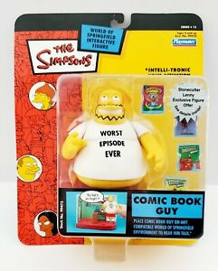 2003 The Simpsons Series 15 World of Springfield Comic Book Guy Figure