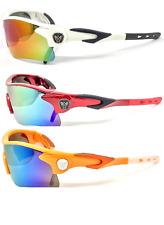 Mirror Lens Mens Fishing Cycling Baseball Sport Wrap Sunglasses UV Production
