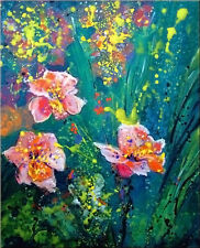 """ORIGINAL painting by G.Liedtke - contemporary, """"DayLily"""" Flower Floral"""
