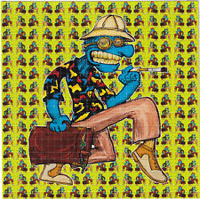 Gonzo Hunter Thompson by Vincent Gordon - BLOTTER ART Perforated paper acid free