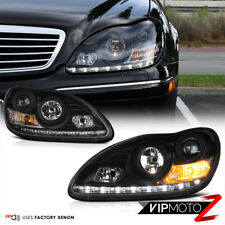 [W220 2003-06] HID Xenon Black LED Projector Headlight Signal Parking Fog Lamps