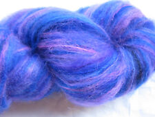 100gm Brushed Mohair Designer Hand-dyed Yarn Lovely Electric Blue Pink Knit 200m