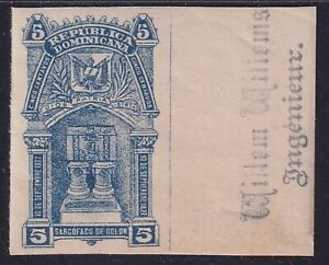 Dominicana Rep 1899 - Imperforate Colombus stamp Sc 103 - Unused MNH Luxe..X2763
