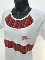 Peruvian Design Lama Shirt Womens Juniors Size XL Short Sleeve Crew Neck PERU