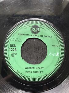 "Elvis Presley Wooden Heart UK 7"" Demo 45"
