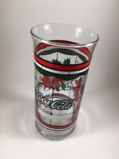 "Whataburger Enjoy Coca Cola 6"" Christmas Glass Poinsetta Holiday Cup Restaurant"