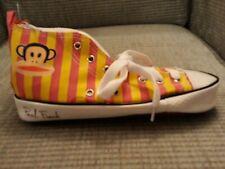 Paul Frank Estuche Zapato. Zapatilla Entrenador Tobillo Alto. nuevo rosa y amarillo.