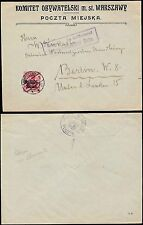 POLAND 1915 GERMAN OCCUPATION ADVERTISING ENVELOPE KOMITET OBYWATELSKI