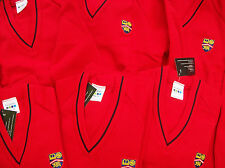 Red School Jumpers with Badge 32 inch +34 inch chest and 36 inch chest