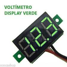 VOLTIMETRO DIGITAL 3 HILOS DC 3 DIGITOS LED VERDE 0-32 V MICROCONTROLADO -ESPAÑA