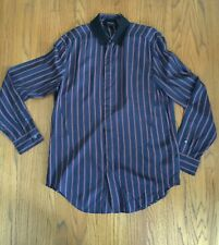 Philip Lim Navy Red Stripped Mens Shirt Sz S