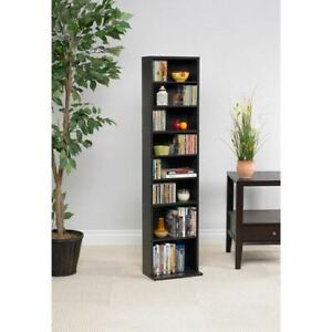 "Atlantic 54"" Summit Wood Media Storage Shelf (261 CDs, 114 DVDs, 132 BluRays/Gam"