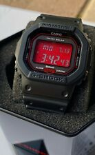 Casio G-Shock Adrenaline Red Black AR Watch GWB5600AR-1 Solar