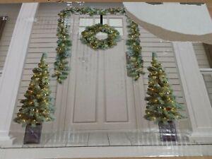 Christmas Decorations 6-Piece Pre-Lit Decor Set - Green - GallyHo
