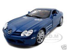 MERCEDES SLR MCLAREN BLUE 1:18 DIECAST MODEL CAR BY MAISTO 36653