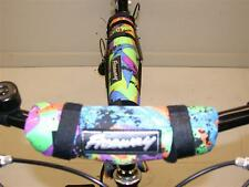 MULTI-COLOURED SAFETY DOUBLE PAD SET FOR ANY BIKE OR MTB GREAT LOOKS LOW PRICE