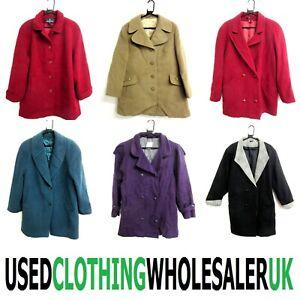 12 GRADE B WOMEN'S 80's VINTAGE SHORT WINTER COATS WHOLESALE CLOTHING JOB LOT