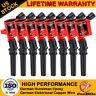 8 Pack DG508 RED Ignition Coil For Ford F150 F250 F550 4.6L 5.4L 6.8L V8 Lincoln