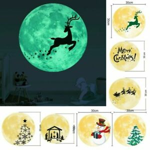 Decoration Wall-sticker Moon Removable Glowing.Reusable 30cm Christmas//