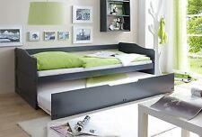 Canapé-lit Lit multifonction à tiroirs double couchage MARIANNE Gris