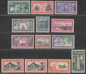 New Zealand 1940 KGVI Centennial Set Mint SG613-625 cat £70
