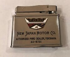 Rare Vintage Collectible Flat Advertising Lighter FORD FALCON DEALER in JAPAN
