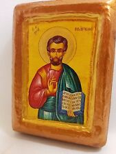 Saint Mark The Apostle Wooden Icon  Religious Art