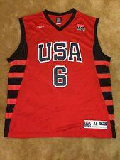 Dwayne Wade #6 USA BASKETBALL OLYMPICS TEAM REEBOK JERSEY SIZE XL FREE SHIPPING!