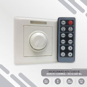 LED Lights, Single Color, RGB, Manual and Remote Control Knob Dimmers