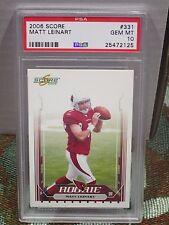 2006 Score #331 - MATT LEINART RC - PSA 10 Gem Mint - AZ Cardinals ROOKIE USC
