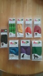 PawZ Rubber Dog Boots Reusable Disposable 100% Waterproof 12 Pk Tiny-X-Large