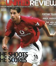 Football Programme>MAN UTD v MACCABI HAIFA Sept 2002 UCL