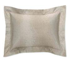 NIP SFERRA Micca Sable 3412 Egyptian/Silk Sateen Jacquard Standard Shams (2)